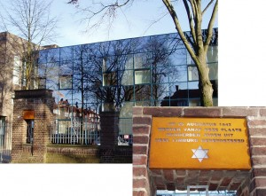 Holocaust herinneringsplaquette Maastricht